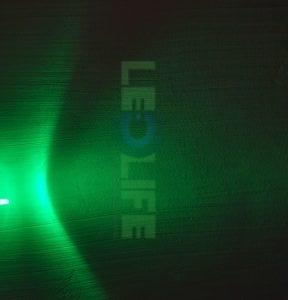 LED 3mm Vihreä 12 000 mcd / 30° lasikirkas kuori
