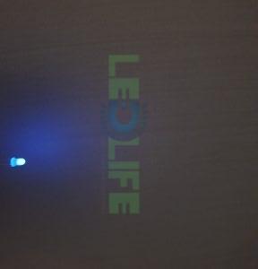 LED 3mm Sininen 200 mcd / 120° Diffusoitu kuori