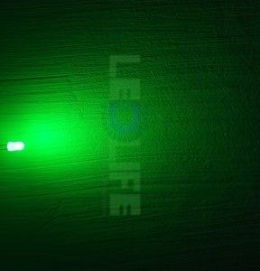LED 5mm diffusoitu vihreä 2 000 mcd