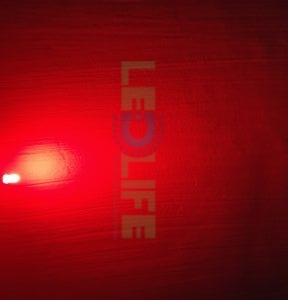 LED 5mm diffusoitu Punainen 600 mcd