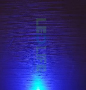 LED 5mm diffusoitu Sininen 400 mcd / 120°