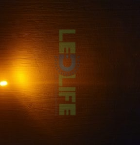 LED 5mm diffusoitu Keltainen 350 mcd / 120°
