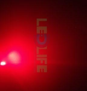 LED 5mm diffusoitu Punainen 500 mcd / 120°