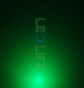 LED 5mm diffusoitu vihreä 2 000 mcd / 120°