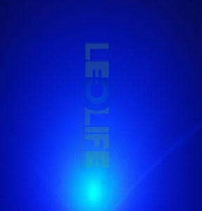 LED 5mm diffusoitu Sininen 600 mcd / 70°