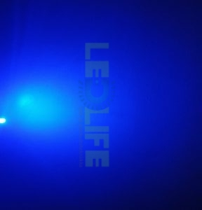 LED 5mm diffusoitu Sininen 600 mcd/70°